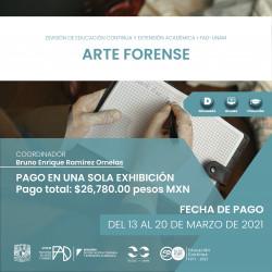 Pago Único: Arte Forense...