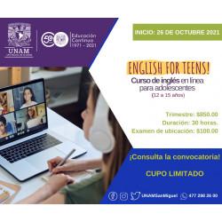 Curso de English for Teens...